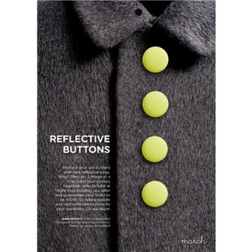 Reflective buttons neon yellow - 22 mm
