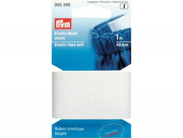 Prym Elastisk strikk – Soft – 40 mm hvit