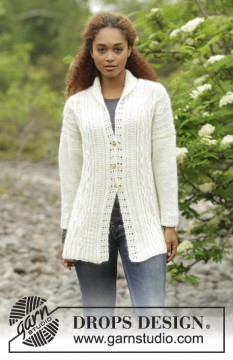 Irish Winter Cardigan by DROPS Design