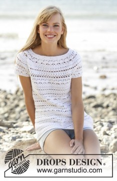 Seashore Bliss Top by DROPS Design