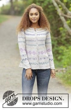Candy Lane Cardigan by DROPS Design
