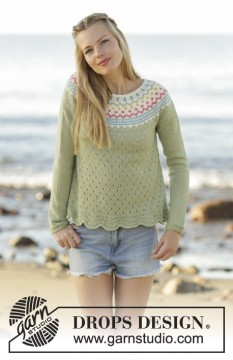 Spring Valley Jumper by DROPS Design