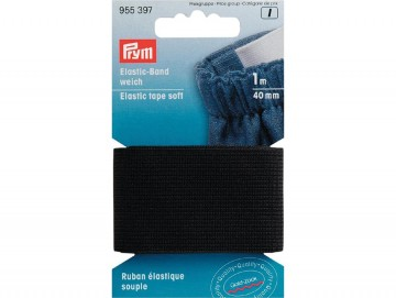 Prym Elastisk strikk – Soft – 40 mm sort